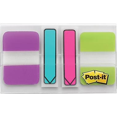 Post-It® - Onglets, 1 po x 1 1/2 po