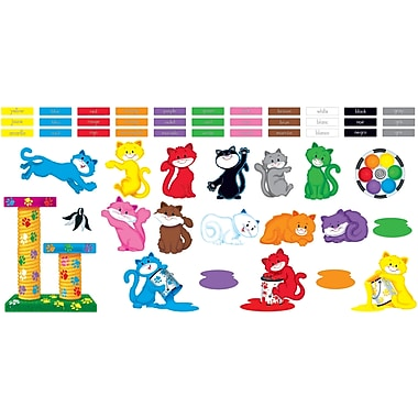 TREND Curious Color Cats Bulletin Board Set
