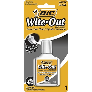 BIC® Wite-Out Quik-Dry Correction Fluid