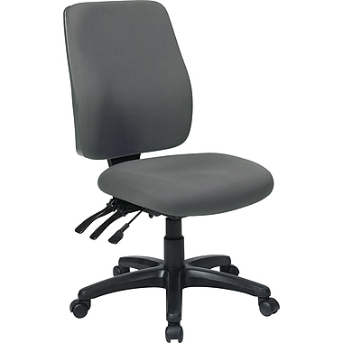 Office Star WorkSmart Fabric Computer and Desk Office Chair, Armless, Gray (33340-226)