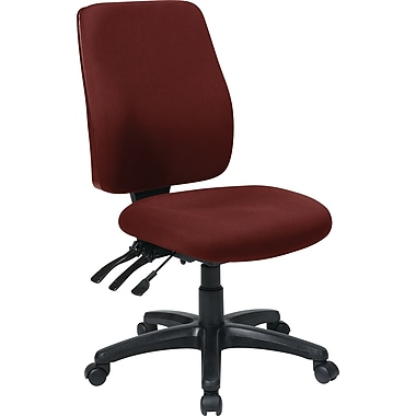 Office Star WorkSmart Fabric Computer and Desk Office Chair, Armless, Red (33340-227)