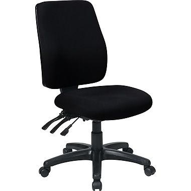 Office Star WorkSmart Fabric Computer and Desk Office Chair, Armless, Black (33340-231)