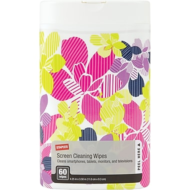 Staples Decorative Screen Cleaning Wipes (24736)