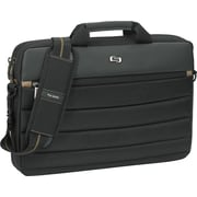 """Solo Exclusives Collection Pro 15.6"""" Slim Brief, Black and Gold, 11""""H x 15-8/10""""W x 2""""D"""
