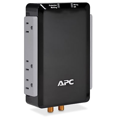 APC® 6-Outlet 1700 Joules Audio/Video with Coax Protection Surge Protector