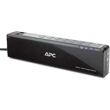 APC® 8-Outlet 2690 Joules Surge Protector with Network and Coax Protection, 6'