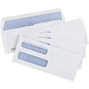 "Staples® Envelopes White Double Window Security #8, 3-5/8"" x 8-5/8"", 500/Box - Gummed"