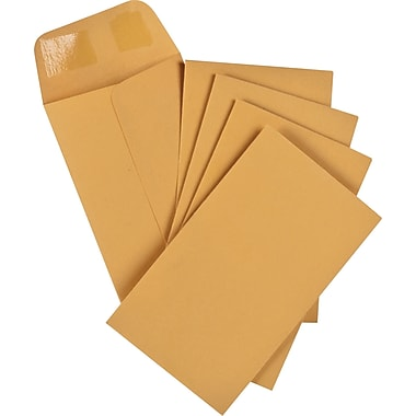 Staples® Envelopes Kraft Coin #3, 2-1/2
