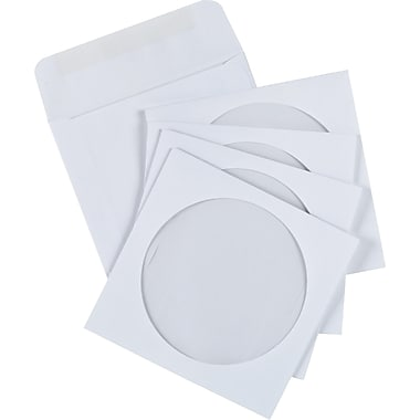 Staples® Envelopes White CD/DVD 4-7/8
