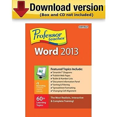 Individual Software Professor Teaches Word 2013 pour Windows (1 utilisateur) [Téléchargement]
