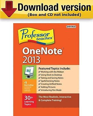 Individual Software Professor Teaches OneNote 2013 for Windows (1-User) [Download]