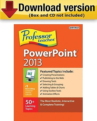 Individual Software Professor Teaches PowerPoint 2013 for Windows (1-User) [Download]