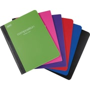 Staples Poly Composition Notebook, College Ruled, Assorted, 24 pack