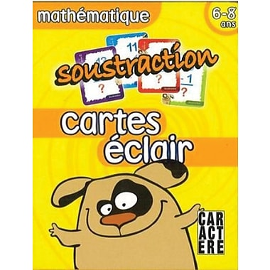 Third Grade Substraction Flash Cards, Ages 6 to 8 for French Students
