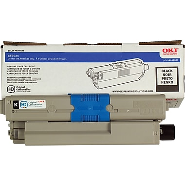 OKI 44469802 Black Toner Cartridge, High Yield