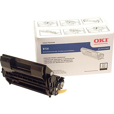 OKI 52123603 Black Toner Cartridge, High Yield
