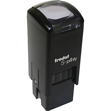 Trodat® S-Printy 4921 Self-Inking Mini Stamp, Happy Face Impression, Blue Ink