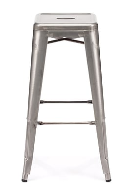 Zuo® Elm Wood Marius Bar Chair, Gunmetal