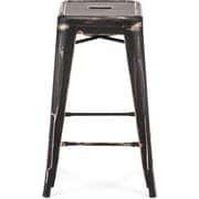Zuo® Steel Marius Counter Stool, Antique Black Gold