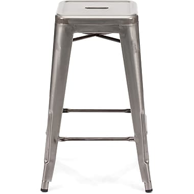 Zuo® Steel Marius Counter Stool, Gunmetal