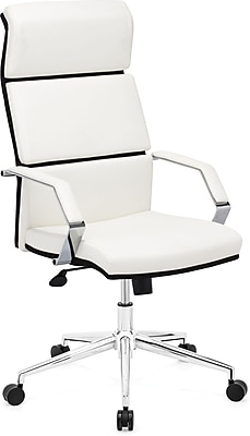 Zuo® Lider Pro Leatherette High Back Office Chair; White, Each