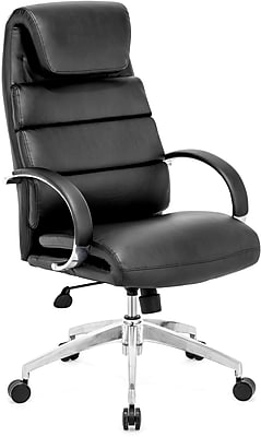 Zuo® Lider Comfort Leatherette High Back Office Chair; Black, Each
