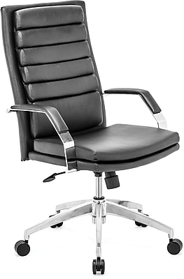 Zuo® Director Comfort Leatherette High Back Office Chair, Black