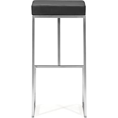 Zuo – Chaise bistro Darwen en similicuir moelleux, noir