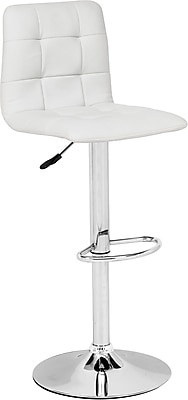 Zuo® Leatherette Oxygen Bar Stool, White