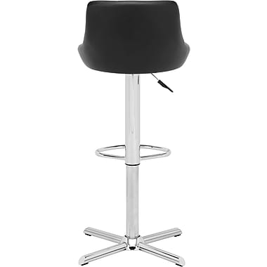 Zuo® Leatherette Devilin Bar Stool, Black