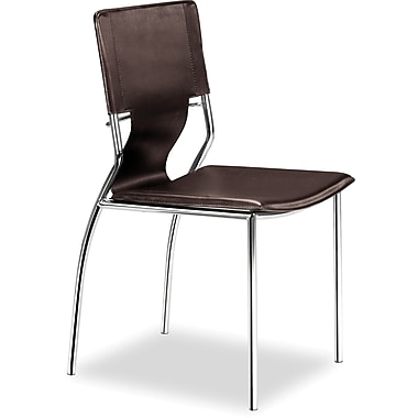 ZuoMD – Chaises en similicuir de la collection Trafico, espresso, 4/pqt