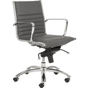 Euro Style™ Dirk Leatherette Low Back Office Chair, Gray