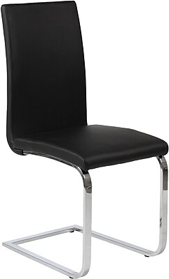 Euro Style™ Santos Leatherette Dining Side Chair, Black