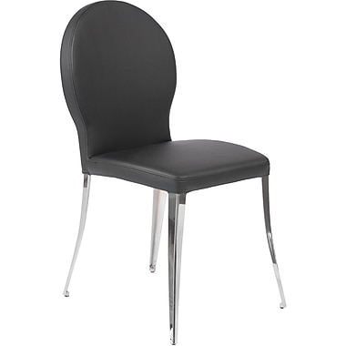 Euro Style™ Farid Leatherette/Fabric Dining Side Chair, Black