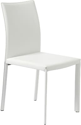 Euro Style™ Molly Leather Dining Side Chair, White