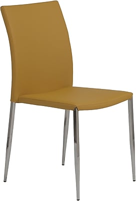 Euro Style™ Diana Leatherette Dining Side Chair, Saffron
