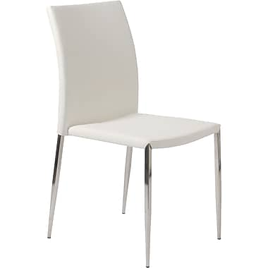 Euro Style™ Diana Leatherette Dining Side Chair, White