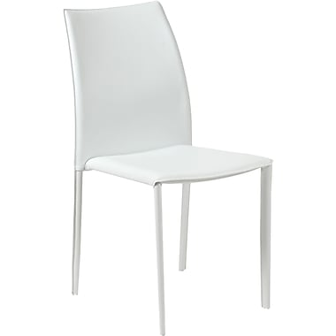 Euro Style™ Dalia Leather Dining Side Chair, White