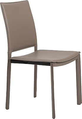 Euro Style™ Kate Leatherette Dining Side Chair, Taupe