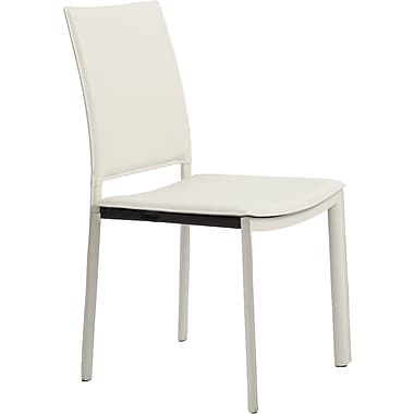 Euro Style™ Kate Leatherette Dining Side Chair, White