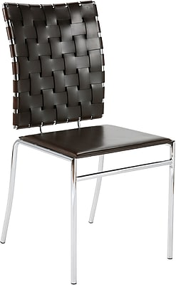 Euro Style™ Carina Leather Dining Side Chair, Brown