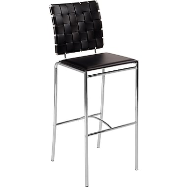 Euro Style™ Carina-B Leather Bar Stool, Brown