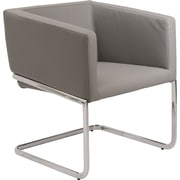 Euro Style™ Ari Leatherette Lounge Chair, Gray