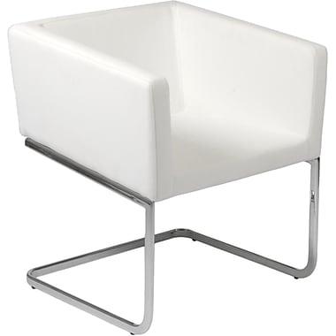 Euro Style™ Ari Leatherette Lounge Chair, White