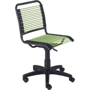 Euro Style 02539 Bungee Cord Low-Back Armless Desk Chair, Green