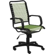 Euro Style 02548GRN Bradley Bungie Cord Desk Chair with Fixed Arms, Green