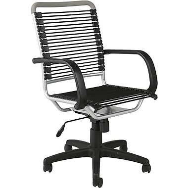 euro style 02556 bungee cord high-back desk chair with fixed arms
