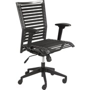 Euro Style 02576BLK Bungee Cord High-Back Bungee Chair with Adjustable Arms, Black