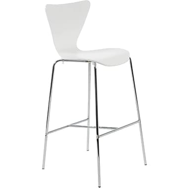 Euro Style™ Tendy-B Laminated Wood Bar Stool, White