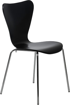 Euro Style™ Tendy Laminated Wood Dining Side Chair, Black